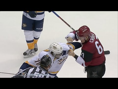 P.K. Subban vs Lawson Crouse Dec 10, 2016