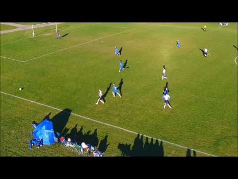 Soccer Game Drone Video