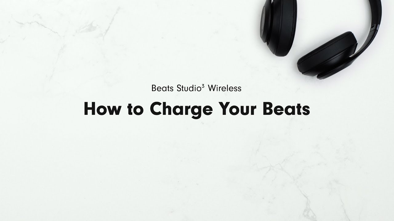 How To Charge Your Beats Beats Studio3 Wireless Youtube