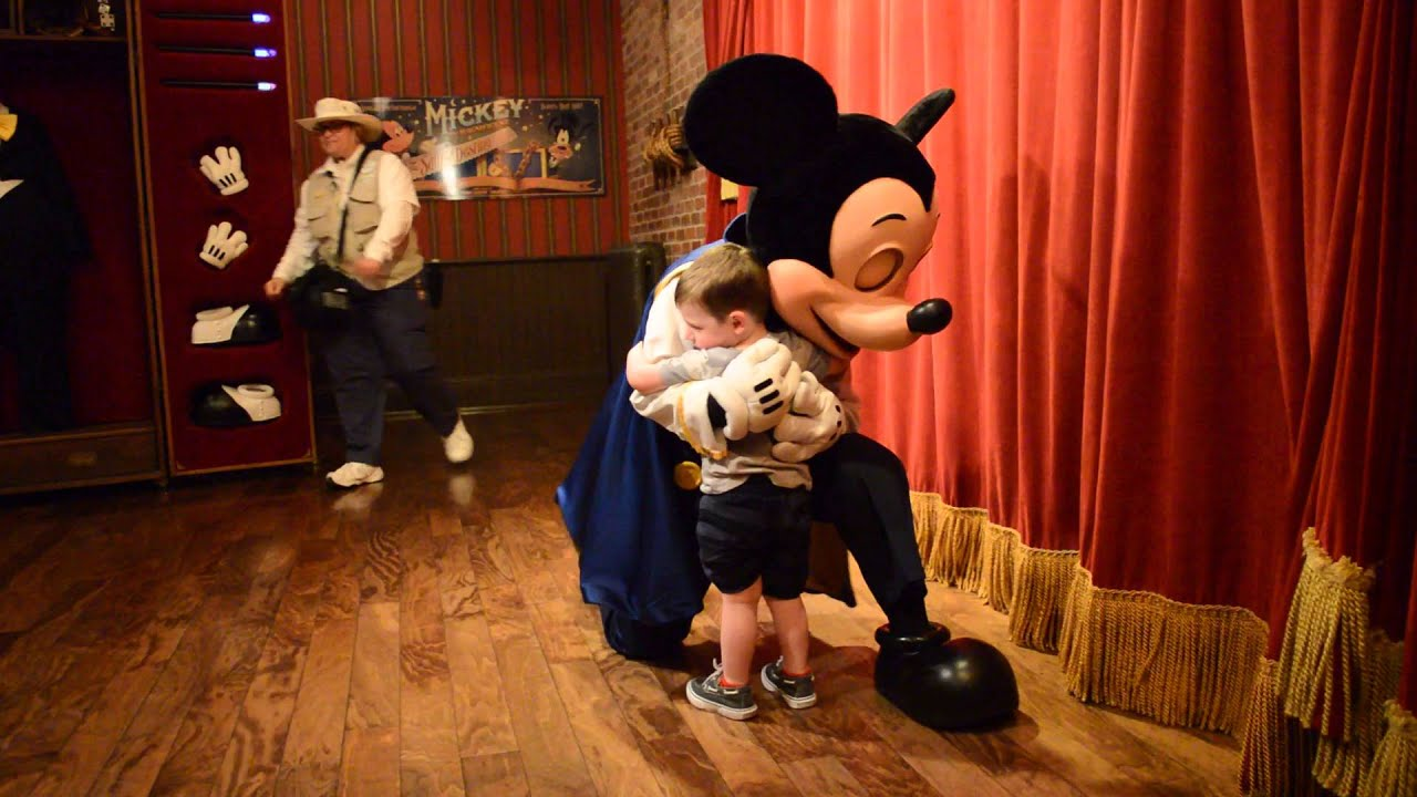 Mickey Mouse Meet And Greet In Town Hall At Magic Kingdom