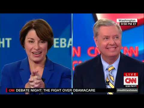 Sens. Lindsey Graham and Bill Cassidy try to talk about