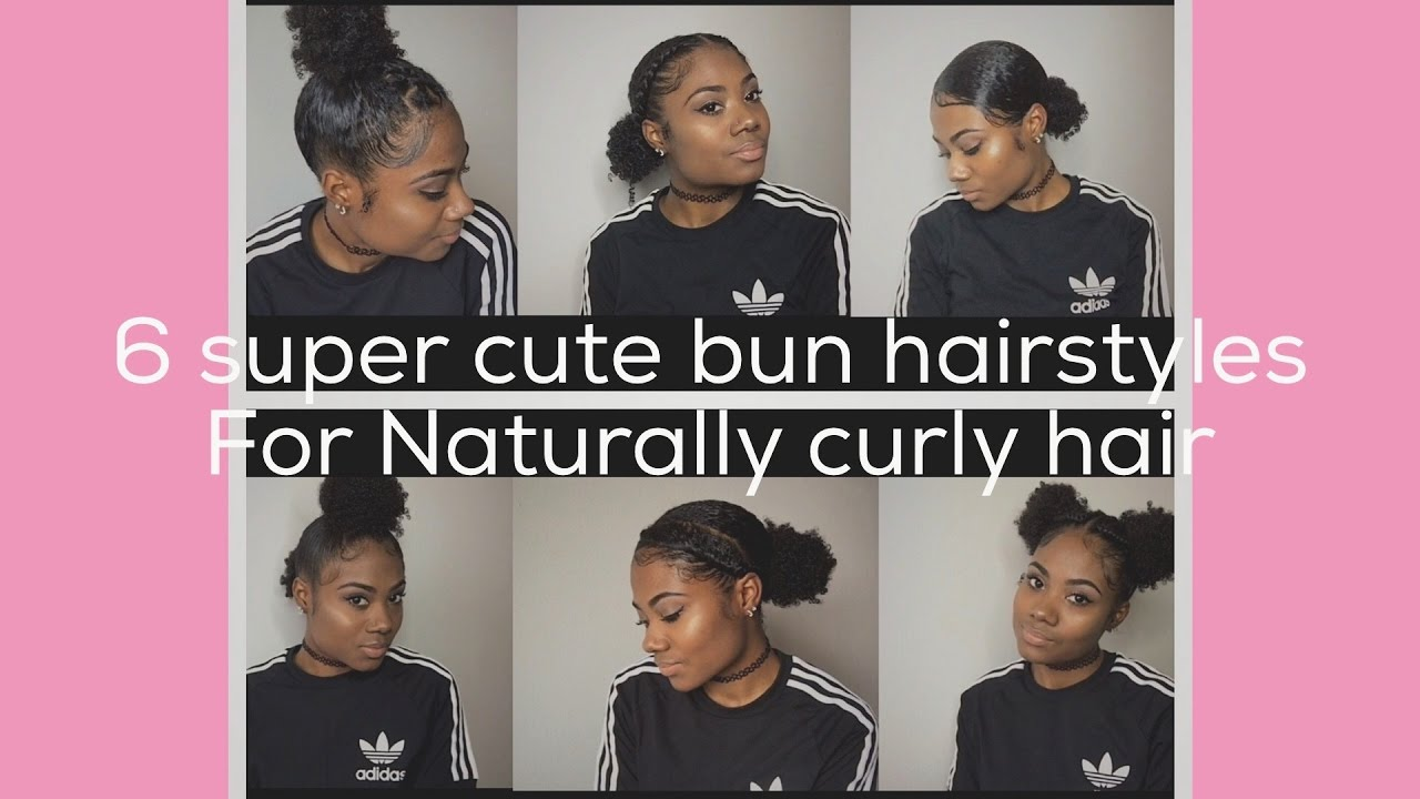 cute ways to style curly hair at home issa bun tutorial 6 ways to style your buns on 2757 | maxresdefault