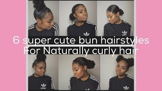 Issa Bun Tutorial [6 super cute ways to style your buns on naturally curly hair!]