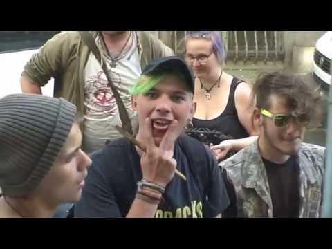 Antifa stört AfD Bürgerbüro Eröffnung Schwerin 01.06.2017