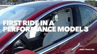 First ride in a Performance Model 3
