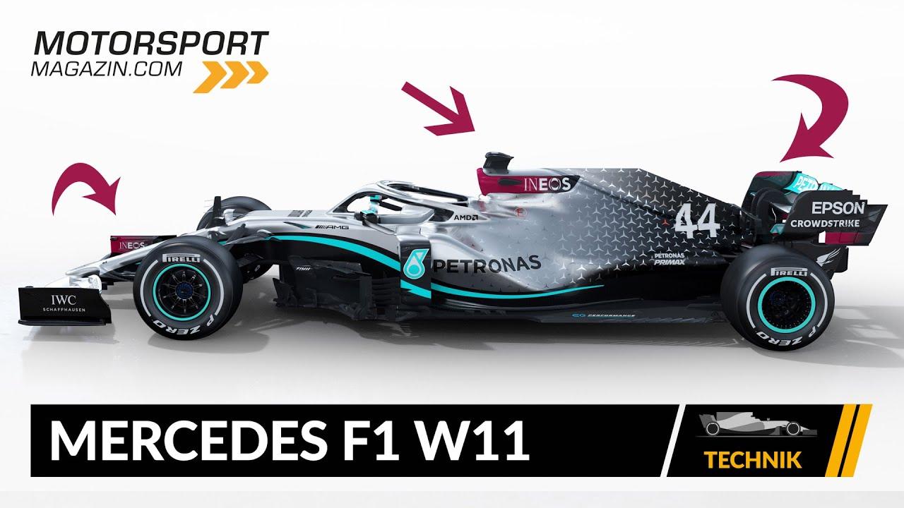 formel 1 autos 2020 mercedes f1 w11 technik check