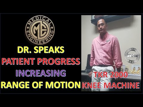 Doctor Sees Total Knee Rehabilitation Machine TKR 2000 as Necessary for Therapy