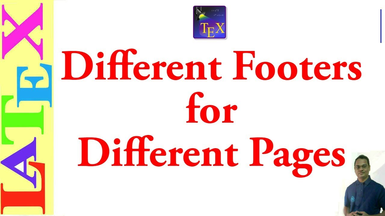 Different footers on each page (LaTeX: Tips/Solution- 01)