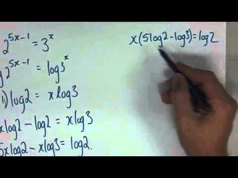 Logs Lesson 8 Solving indices using logs - YouTube