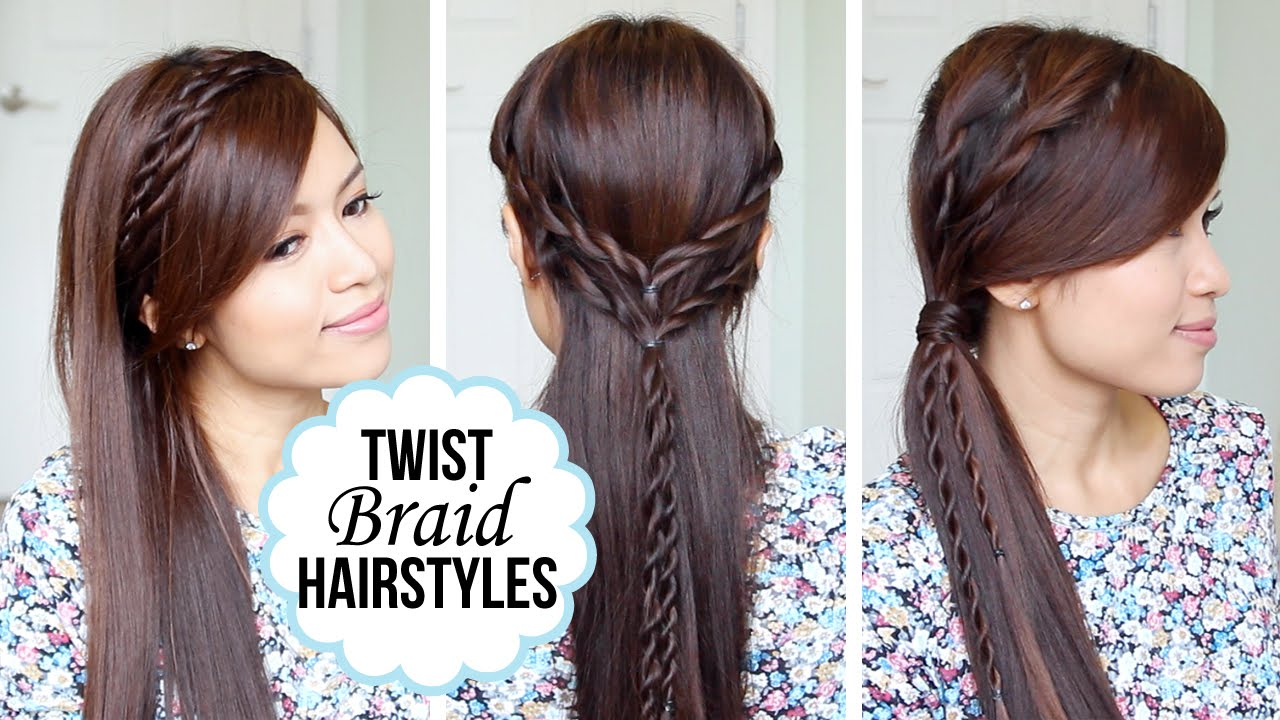 quick and easy hairstyles with a twist