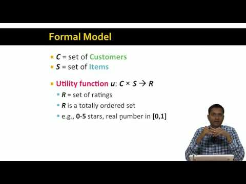 Lecture 41 — Overview of Recommender Systems  Stanford University