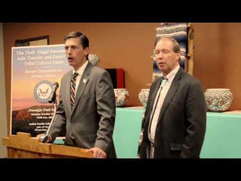 Sen. Tom Udall and Sen. Martin Heinrich at Indian Pueblo Cultural Center
