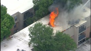 LIVE: 4-alarm fire at Houston apartment complex