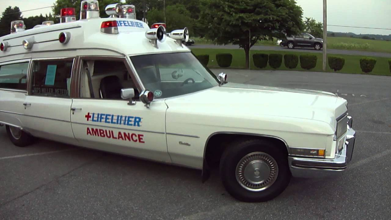 "Old Ambulance For Sale >> 1973 Cadillac Miller-Meteor "" Lifeliner "" hightop ambulance - YouTube"