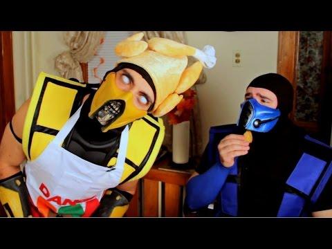Scorpion and SubZero Ruin Thanksgiving! (Cooking With Scorpion #2) Mortal Kombat