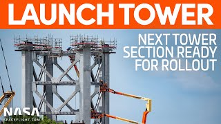 New Launch Tower Section Prepped for Transport | SpaceX Boca Chica