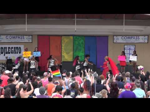 Velvet Lenore and Dancers Palm Beach Pride Performance 2016
