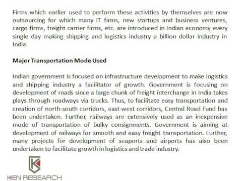 Logistic and Shipping Market Research Report By Kenresearch