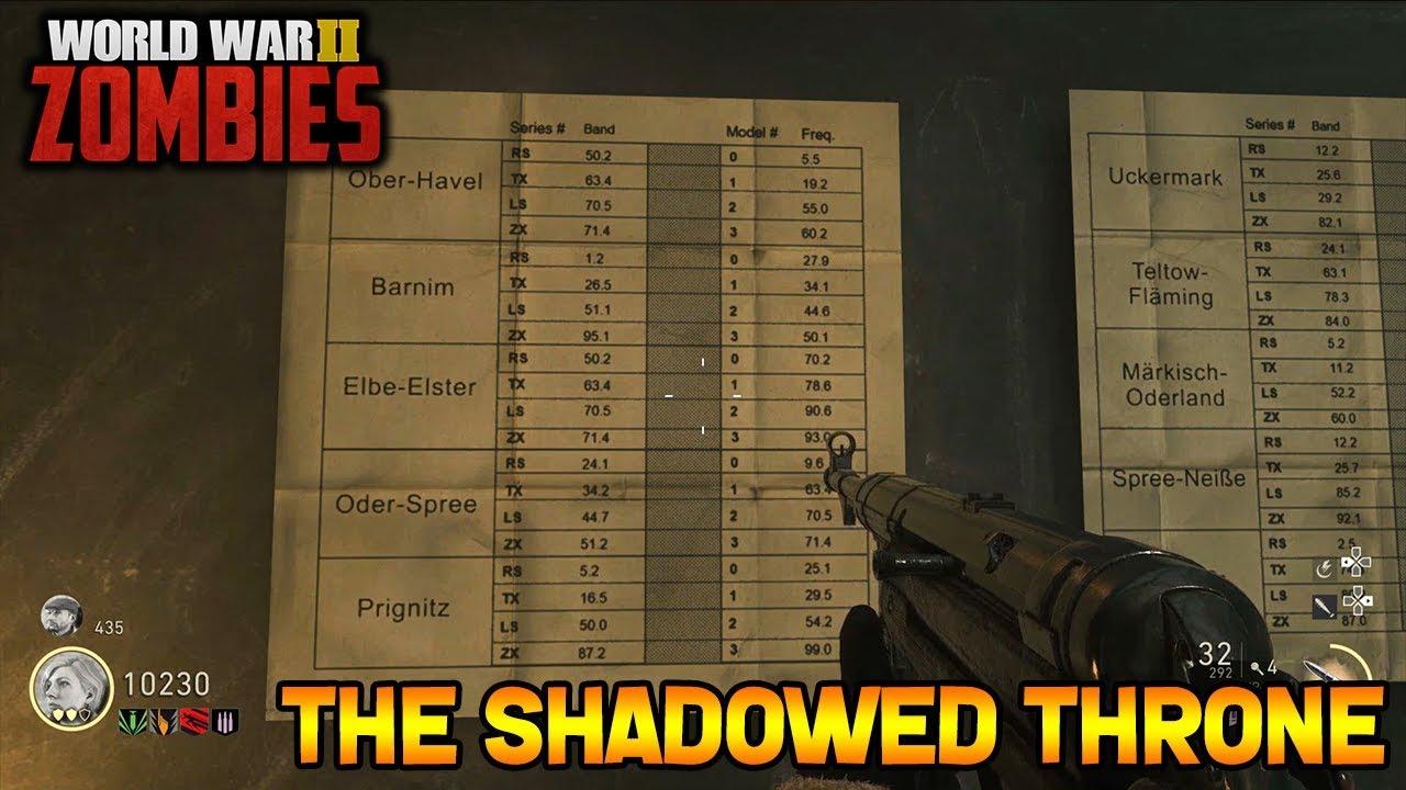 Call Of Duty: WW2 Zombies The Shadowed Throne Walkthrough