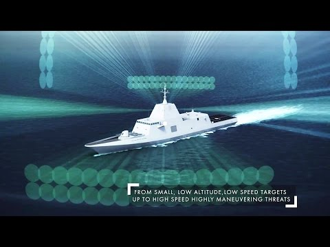 Thales - Sea Fire 500 AESA Multi-Function Fixed Array Radar Simulation [1080p]