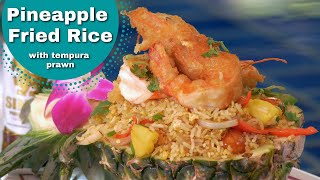 Thai Food - Crispy Prawns (shrimp) With Pineapple Fried Rice