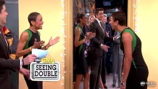 Celebrity Dopplegangers: Robin Roberts Meets Her Look-Alike on