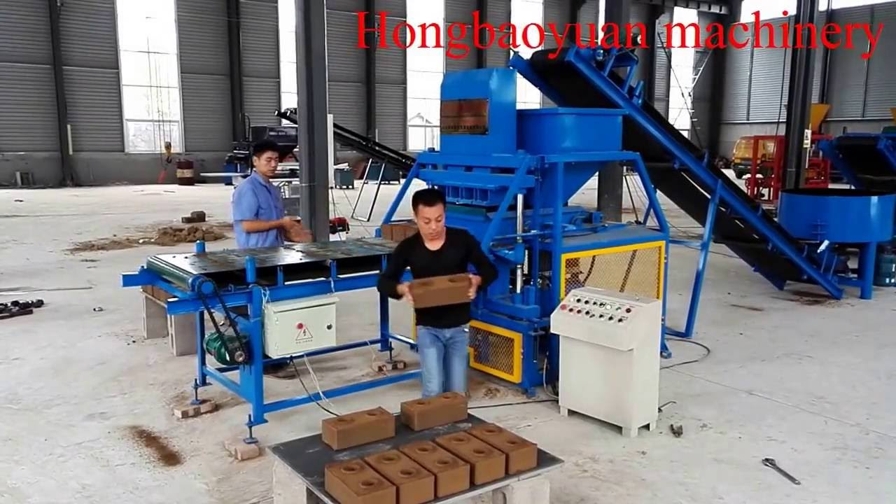 Blocks Interlocking Press Earth Us : Hby automatic hydraulic press for interlocking soil