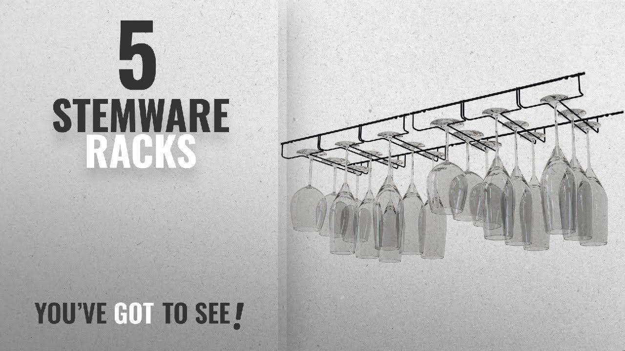 Top 10 Stemware Racks [2018]: WALLNITURE Stemware Wine Glass Hanger Rack  Under Cabinet Kitchen Bar