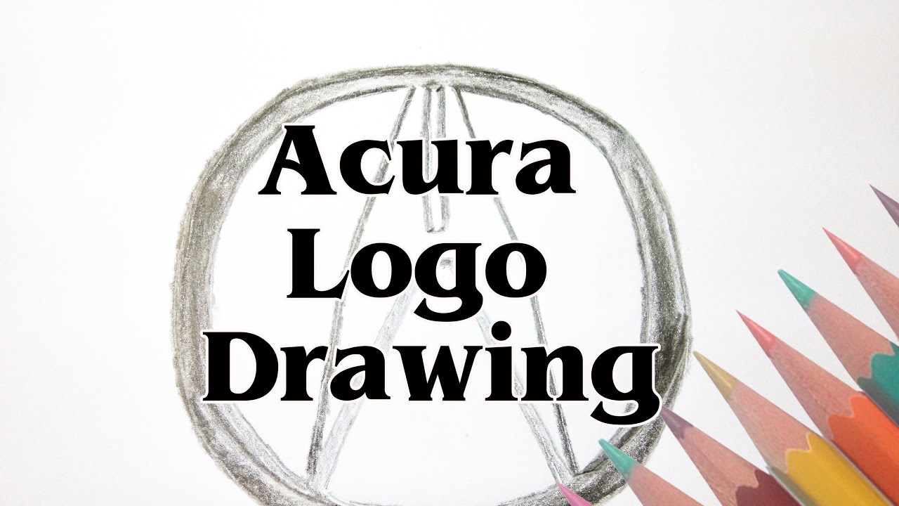 acura logo. how to draw a acura logo step by drawing tutorials sld