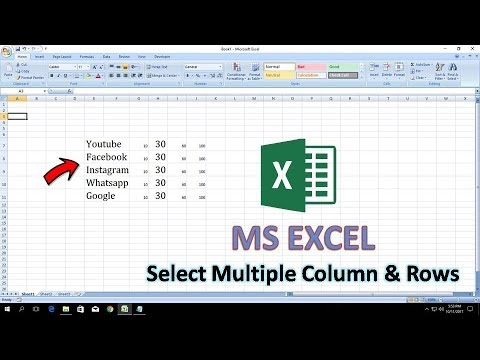 Select Multiple Cell Row Column In Excel Youtube