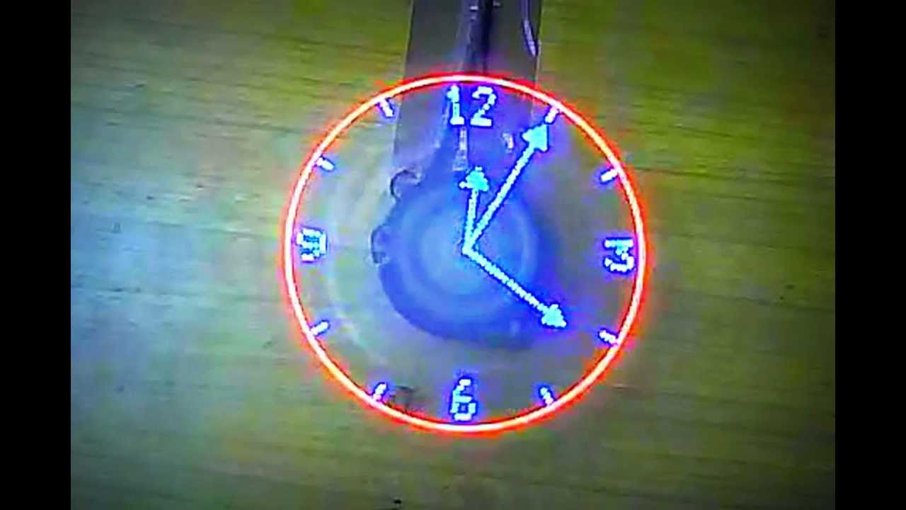 El reloj helice youtube - Hacer reloj de pared con fotos ...