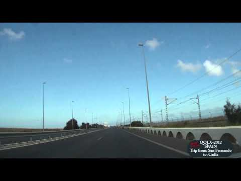 QQLX 0034 SPAIN Trip from San Fernando to Cadiz - Road CA-33 - Street view car 2012