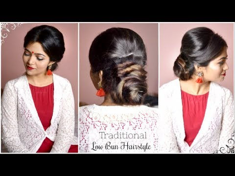 Heatless Hair Bun Hairstyle For Sareekurti Traditional Hairstyle