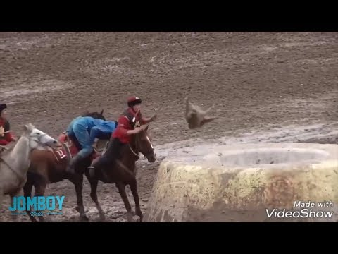 Fred - Buzkashi, not the sport of kings. The sport using a dead goat for a ball.