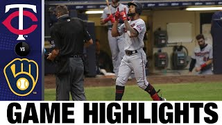 Byron Buxton homers twice in 12-2 rout | Twins-Brewers Game Highlights 8/11/20