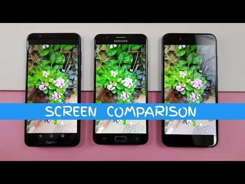 Honor 7X vs Samsung J7 Prime vs Mi A1 SCREEN COMPARISON TEST !
