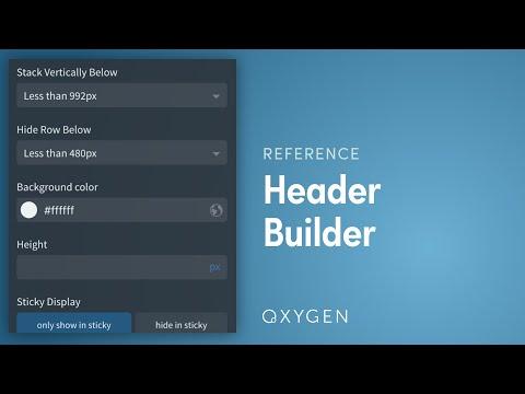 Header Builder - Oxygen