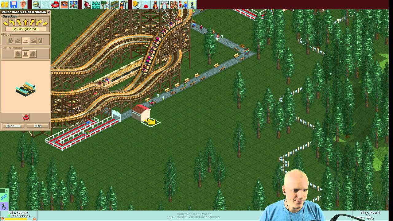 Rollercoaster Tycoon Scenario #1: Forest Frontiers