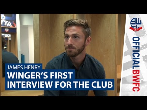 JAMES HENRY | Winger's first interview with the club