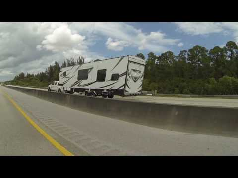 Florida's Turnpike south to I-95 & 45th Street, West Palm Beach, FL, 3 August 2016 GP065504
