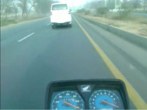 Honda Cg125 top speed 122kmh on a long journey