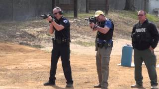 Reporter trains beside officers, learning ropes