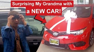 Surprising Grandma with a Brand New car for Mothers day