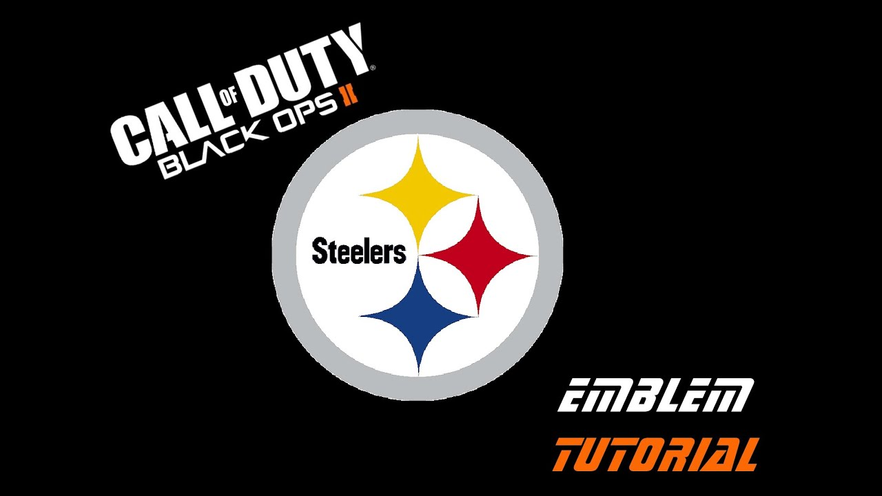 Black ops 2 emblem tutorial nfl pittsburgh steelers logo youtube biocorpaavc