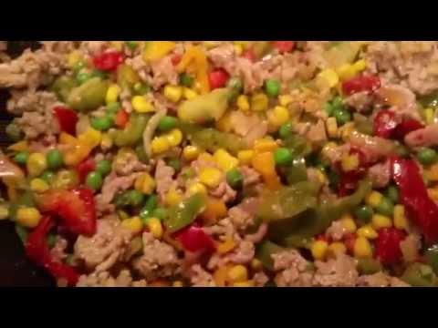 Co Ng My Turkey And Peppers Vegetable Dish With Brown Rice Recipe