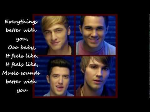 Big Time Rush - Music Sounds Better With You (lyrics onscreen) Full song