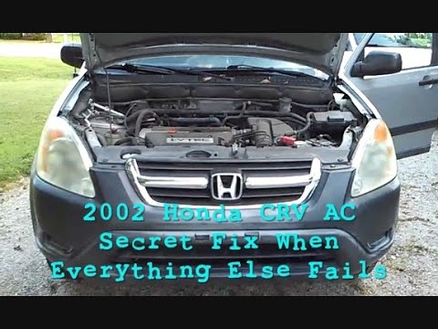 2002 honda crv a c recall fix new rarely seen tip youtube
