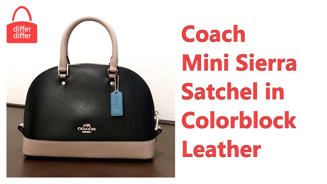 8dc5d0d6c ... signature brown black 11street 8d92a 03d7e; new arrivals coach mini  sierra satchel in colorblock leather 37249 19dcc 44e33