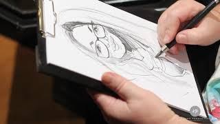 Karikaturista na Vase akce