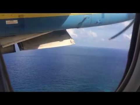 飛行時間3分!北大東空港離陸から南大東空港着陸まで